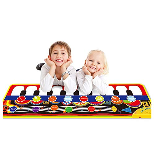 OKREVIEW Baby Toys Piano Keyboard Mat - Electronic Music Play Blanket Dance Mat 10 Keys with 8 Unique Instrument Sounds for Early Learning Education Toys Gift for Toddler Baby Boys Girls