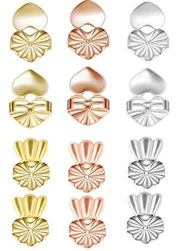 6 Paar Ohrringheber, magische Ohrringheber, verstellbare hypoallergene Ohrring-Heber für hängende Ohren