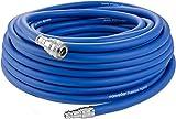 """Poppstar Manguera Compresor Aire 20m (PVC híbrido con tejido, conexión 3/8"""" BSPT/Acoplamiento rápido), hasta 20 bar, azul"""