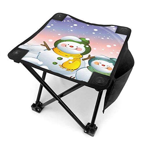 End Nazi Tabouret de Camping chaises Pliantes Doux Joyeux noël Mignon Bonhomme de Neige Dessin animé siège de Chaise Portable