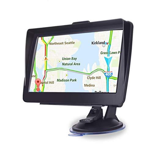 GPS para coche GPS Navegación 7 pulgadas de navegación GPS incluye los códigos postales, Asistencia velocidad alertas de cámaras y PDI Lane, Pre-lnstalled Reino Unido y las últimas actualizaciones de