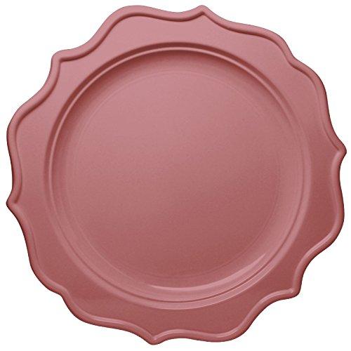 Decorline- Piatti Insalata/Dolce 19cm Color Rosa -Stoviglie plastica-USA e Getta - 12 Pezzi - Festive Collection