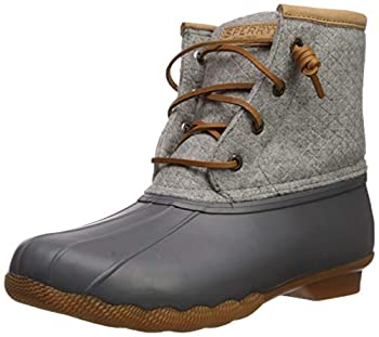 Sperry Womens Saltwater Emboss Wool Boots Dark Grey 7.5