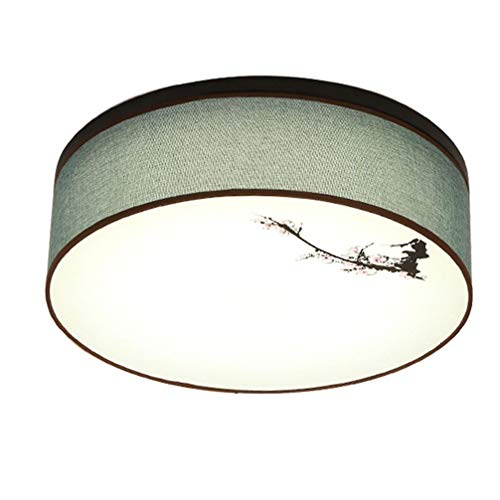 Moderne creatieve led-plafondlamp Rotonda plafondlamp van ijzer Eenvoudige Nordic woonkamer plafondlamp slaapkamer studio kunst stoffen kap antieke stijl dimmerabi