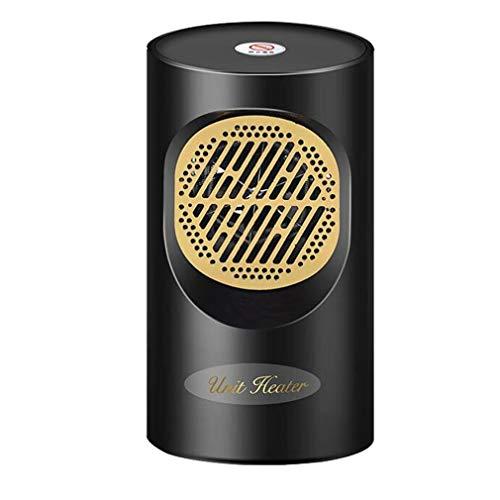KoelrMsd Mini Calentador pequeño para Oficina en casa, Calentador sin Hojas, Ventilador Caliente, Ventilador súper silencioso y cálido para el hogar, Recargable de 300 W
