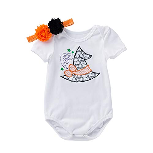 XXYsm 2Pcs Outfits Kleinkind Baby Mädchen Kleidung Kurzarm Jumpsuit Strampler mit Stirnband