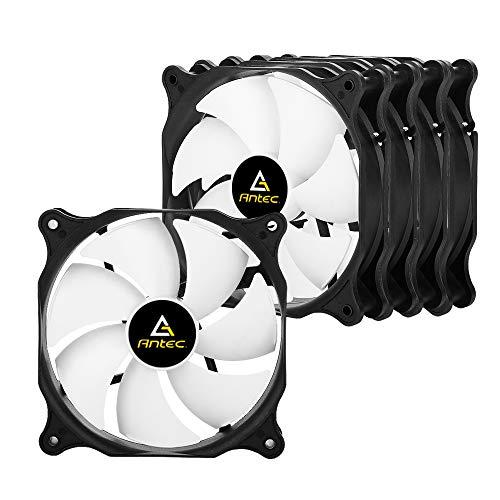 Antec pc lüfter 120mm Standard Gehäuselüfter, extrem leiser Lüfter, Case Fan mit Standardgehäuse, Push- oder Pull-Konfiguration möglich, 1000 U/min PF12 (5er Pack).