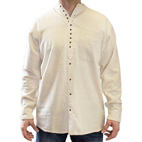 NADUR Stehkragenhemd - Irisches Stehkragenhemd - EW 13 Stone (L)