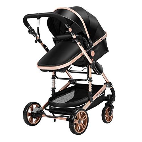 DACHANGTUI Kinderwagen 3 in 1 Neugeborenen Kinderwagen High Landscape Kinderwagen