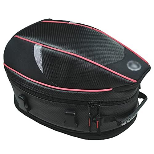 Bolsa De Asiento para Motocicleta, Negro 18 litros Impermeable Multifuncional Mochila De Equitación, Moto Tanque Alforja De Equipaje Extensible Accesorios De Cola Bolsas