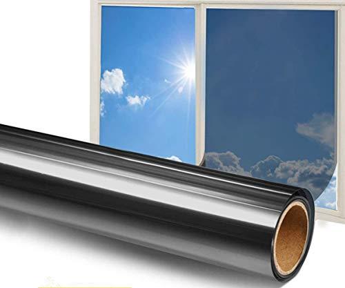 GodUp Fensterfolie Sichtschutz Selbsthaftend Blickdicht Sonnenschutzfolie Sichtschutzfolie für Fenster 99% UV-Schutz Sichtschutzfolie für Büro und Zuhause (40x200cm)