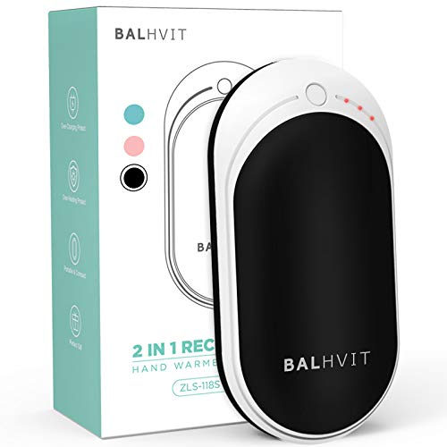 Balhvit 3s Quick Heating Rechargeable Hand Warmer, 5200mAh 4-8H Long-Lasting Electric Hand Warmer Heater, USB Battery Pocket Hand Warmers Reusable, Portable Power Bank, Tech Gifts for Christmas/Hunt…