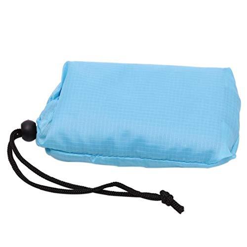 YLIKD Tapis de Camping Mini-Tapis de Camping en Plein air Blacket Sac Multi-Usage 110x150cm Tapis de Jeu de Plage Pliable pour Pique-Nique 蓝色