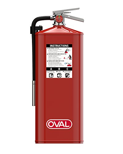 Oval Brand 10 lb ABC Fire Extinguisher Model 10HABC with 4A:80B:C Rating