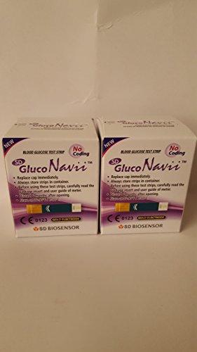 GlucoNavii Blood Glucose Test Strips - 100 Ct. Box