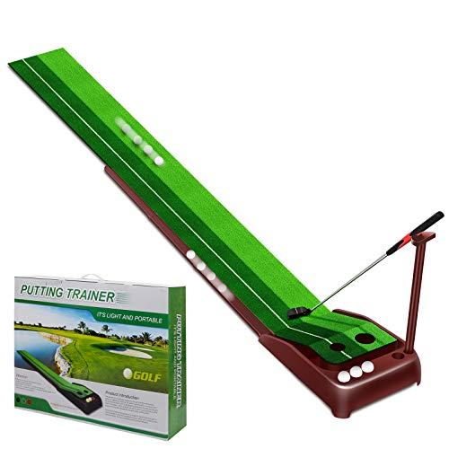 MSOAT Indoor Golf Putting Green, Alfombra de práctica de Golf con función de Retorno Automático de la Pelota