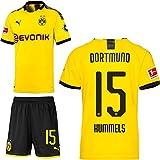 PUMA Borussia Dortmund BVB Heimset 2019 2020 Home Kit Trikot Shorts Kinder Mats Hummels 15 Gr 176