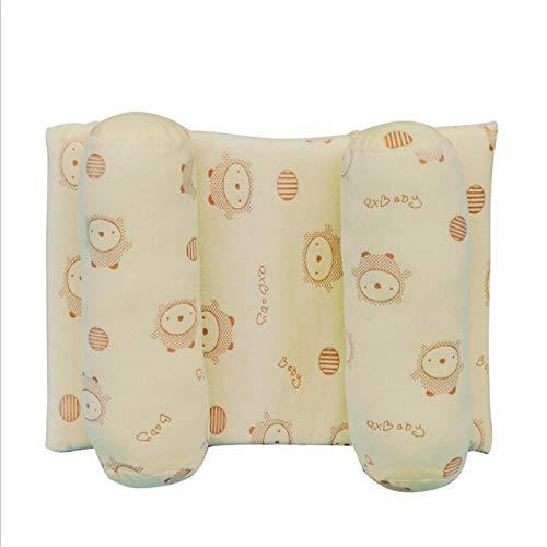Almohada suave para bebé infantil que evita la cabeza plana, cojín antivuelco, soporte para dormir, almohadas de algodón para bebés, linda almohada antideslizante