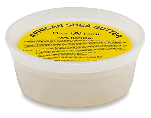 Raw African Shea Butter 8 oz Unrefined Grade A 100% Pure Natural Ivory / White From Ghana DIY Crafts, Body, Lotion, Cream, lip Balm, Soap Making, Eczema, Psoriasis And Aid Stretch Marks