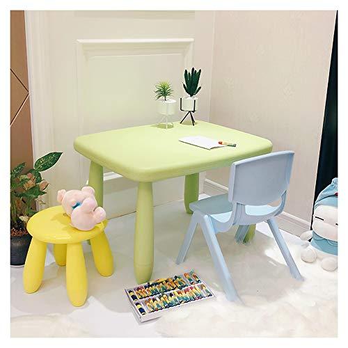 CHAXIA Chaise De Table Enfant Ensemble Meubles for Enfants Jardin d'enfants Apprendre Table De Jeu Cadeau d'anniversaire 1 Table 1 Chaise 1 Tabouret Rond (Color : A)
