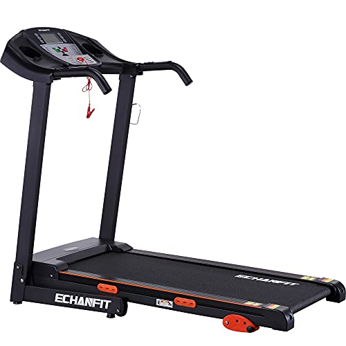 ECHANFIT Treadmill Folding Electric Motorized Running Machine 16.5'' Wide Tread Belt 8.5 MPH Max Speed LCD Display and Cup Holder Easy Assembly with 15 Preset Programs Perfect for Home Use