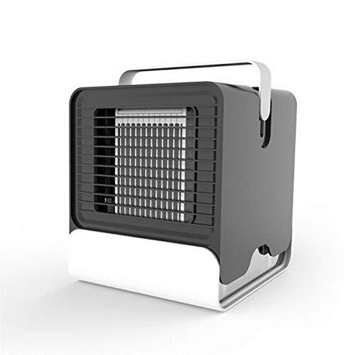 XCQ Mini Tragbare Klimaanlage Nachtlicht Konditionierung Kühler Luftbefeuchter Reiniger USB Desktop Luftkühler Lüfter mit Wassertanks dauerhaft 0327 (Color : Black)