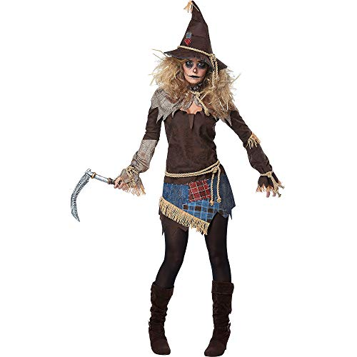 California Costumes Damen Creepy Scarecrow Adult Woman Costume Kostüme für Erwachsene, braun, Large