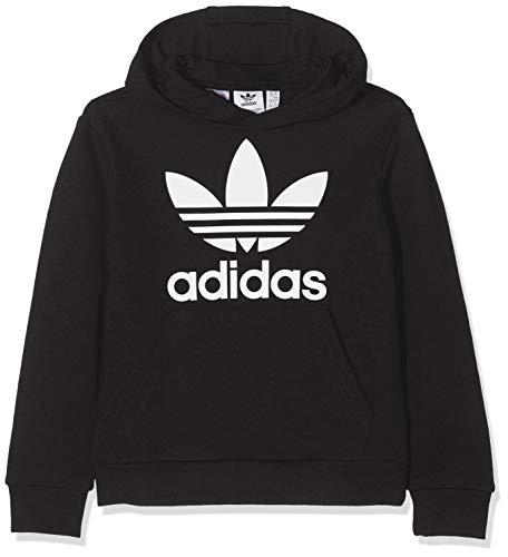 adidas Kinder Trefoil Hoodie Sweatshirt, Black/White, 1314
