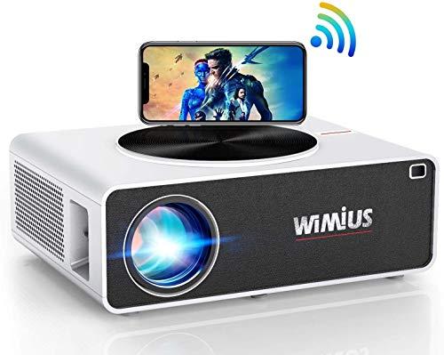 HYLL Proyector WiFi, 7000 Proyector de Video Full HD 1920x1080 Soporte Nativo 4K proyector LED Zoom función de Pantalla Compatible proyector de teléfono Inteligente, Palo de TV, PC, el comerc.