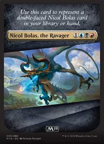 Magic: The Gathering - Nicol Bolas, The Ravager Checklist Card - Core Set 2019