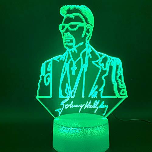 Decoración del hogar única luz de noche 3d accesorios de fondo de colores para el hogar luz de noche LED regalo de Halloween luz de noche colorida