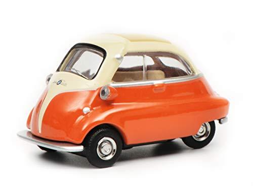 Schuco- BMW Isetta, Beige/Orange 1:64 452016500-Maqueta Escala, Color Naranja, Crema. (452016500)