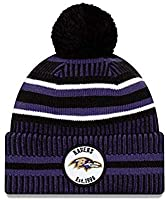 The Line 100 Commemorative Version Sports Outdoor Cap Wool Knit Beanie for Winter Footbal Team Sports Team Cap (Baltimore Ravens)