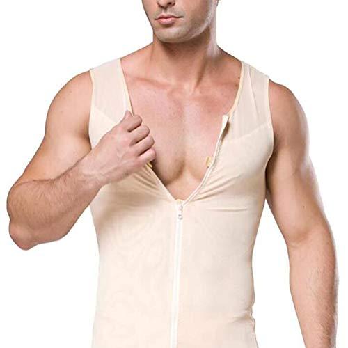 SHANGXIAN Männer Abnehmen Body Shaper Gynäkomastie Weste Kompressionshemd Bauch kontrollieren Shapewear Unterwäsche,Haut,XXL
