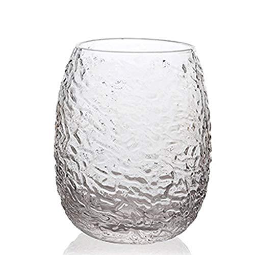 GXJ Whisky Cristal Japonesa Hecha a Mano Creativa Martillado Vidrio cristalino de la Copa de Vino Espesado Anti-escaldar la Copa de Vino