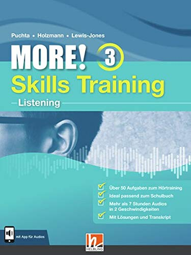 MORE! 3 Skills Training - Listening: mit App für Audios (Helbling Languages)
