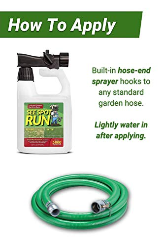 See Spot Run Lawn Protection | Dog Urine Grass Saver That Cures and Prevents Burn Spots. Pet Safe All Natural Lawn Saver for Dogs. Safe to Use With Your Lawn Fertilizer | Made in USA Lawn Care Product