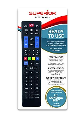 Telecomando universale per tutti i televisori LG/SAMSUNG/SONY pronto all'uso non richiede programmazione.