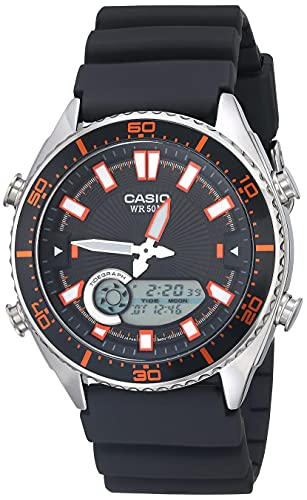 Casio Men's Ana-Digi AMW720-1AV Silver Resin Japanese Quartz Fashion Watch
