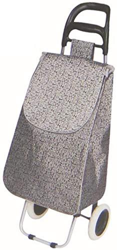 gengxinxin Durable Conveniente Peso Ligero Gran Capacidad Carro De Compra Fácil De Almacenar Trolley Aluminio Impermeable Tejido Oxford Ancianos Portátil Hogar Carrito De Compras 95 * 35 * 27 Cm-c.