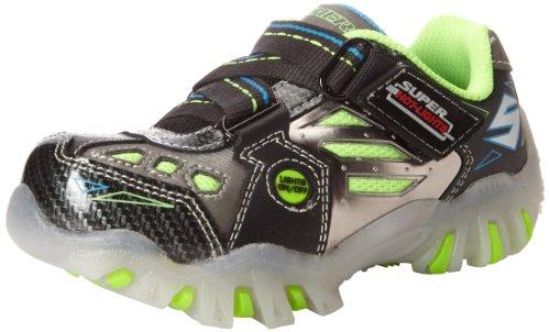 Skechers Kids 90470L Street Light-Up Sneaker (Little Kid),Black/Silver/Royal,3 M US Little Kid