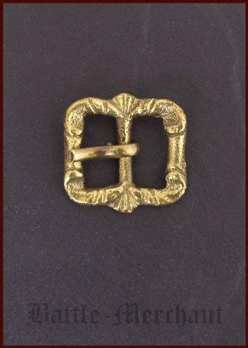 Battle Merchant Tarde Medieval Hebilla de latón, nº 25–Correa Ancho: hasta Aprox. 18mm