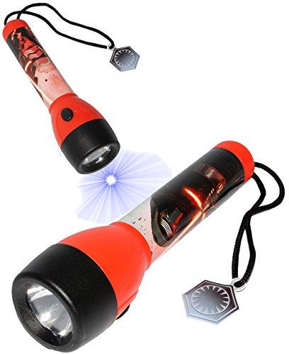 alles-meine.de GmbH Taschenlampe LED -  Star Wars - Kylon Ren / Stormtrooper  - für Kinder Lampe / Projektor mit Band & Anhänger - Licht Auto Kindertaschenlampe für Jungen & Mä..