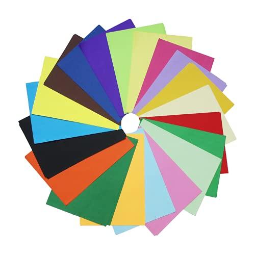100 Blatt ,20 Farben, A4 80 g/m², Buntpapier Farbigen A4 Kopierpapier Papier, Farbige Buntes Papier Ton-Papier, für DIY Kunst Handwerk (20 * 30cm)