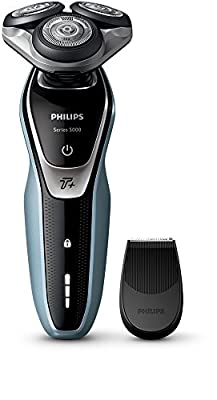 Philips Series 5000 Wet and Dry Men's Electric Shaver with Turbo Plus Mode - S5530/06 (UK 2-Pin Bathroom Plug) by Philips