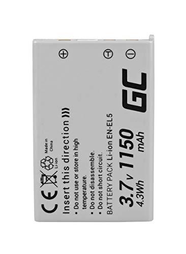 Green Cell® EN-EL5 EN-EL5A Batería para Nikon Coolpix 3700 4200 5200 5900 7900 P3 P4 P80 P90 P100 P500 P510 P520 P5000 P5100 P6000 S10 Cámara, Full Decoded (1150mAh 3.7V)