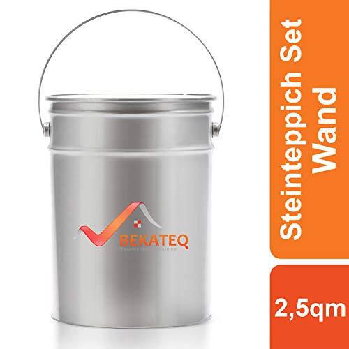 BEKATEQ BK-605PU Steinteppich Außen UV-stabil | 25kg Natursteinteppich + 3KG 1K PU als Bindemittel, Grundierung und Versiegelung (Bardiglio Toscano)