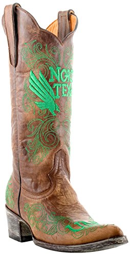Gameday Boots NCAA North Texas Mean Green Women's 13-Inch, Brass, 7.5 B (M) US