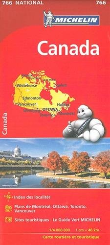 CANADA 11766 CARTE 'NATIONALE' MICHELIN KAART