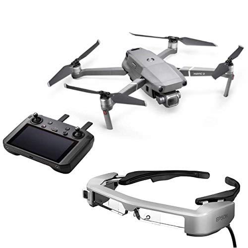 """DJI Mavic 2 Pro con Controlador Inteligente + Gafas Epson FPV BT-35E - Drone con cámara de 20MP + Control de Radio con Pantalla Ultra Brillante de 5.5""""+ Gafas estereoscópicas 3D Inteligentes"""